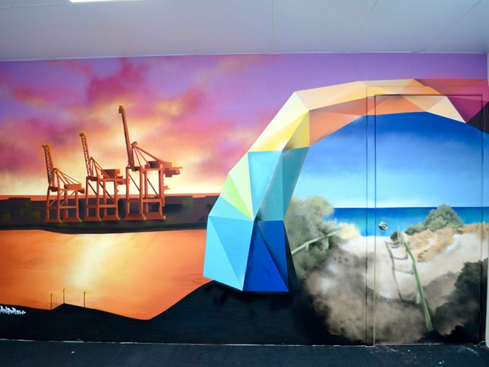 Fremantle inspired feature wall